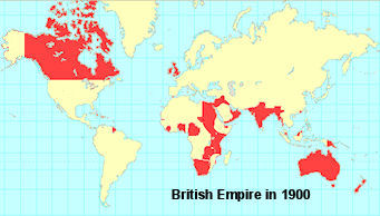 Map of the British Empire 1900